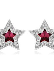 toutes les oreilles en cristal de forme étoile correspondant de femmes mingluan