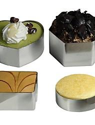anneau de mousse en acier inoxydable de hong couvert 4 pièce (biscuits)