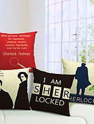ensemble de 4 cool man coton / lin taie d'oreiller décoratif moderne