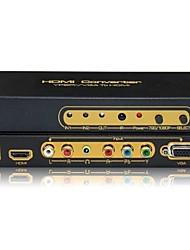 YPbPr entrée vga hdmi 1080p boîte adaptateur de convertisseur de sortie, r / l d'entrée audio d'entrée audio 3,5 mm stéréo mini-jack
