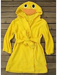 Linda Yellow Duck Baby Dressing Gown Splash Wrap Bath Hooded Towel Robe 0-6Years