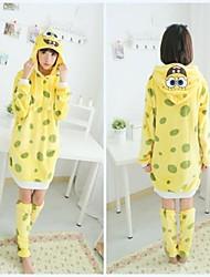 belle SpongeBob SquarePants pyjama kigurumi des femmes jaunes avec réchauffeur de jambe (de la hauteur 150-170cm)