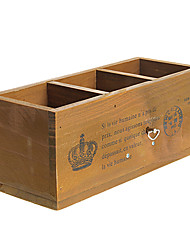 Retro Wooden Pen Container Music Box Toys