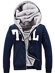 Men's Winter and Cashmere Thick Warm Hooded Sports Leisure Outerwear