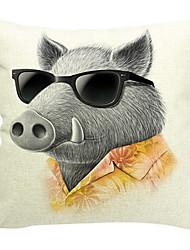 свинья лидер хлопок / лен декоративная наволочка