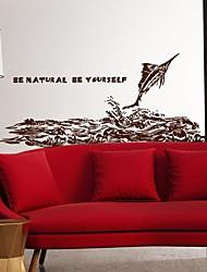стены стикеры наклейки на стены, современная личность прыжки акула ПВХ стены стикеры