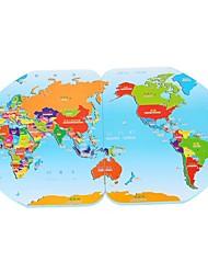 forma de madeira do mundo estéreo brinquedos puzzle mapa da bandeira-cabeça