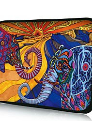 "Elonno Color Elephant 15"" Laptop Neoprene Protective Sleeve Case for Macbook Pro Retina Dell HP Acer"