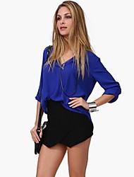 Women's Dress Shirts , Chiffon/Cotton/Cotton Blend/Lace/Linen Casual JUANMEI