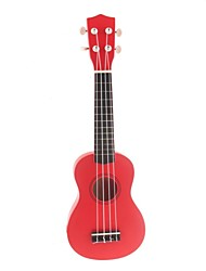 "21"" Linden Wood Soprano Ukulele(Red) UK-21"