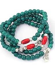 Vintage Bracelet Beads Strand Bracelet(Random Color)