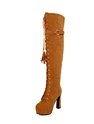 Women's Shoes Fashion Stiletto Heel Suede Boots with BuckleMore Colros available