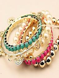 Magic женские Европа Стиль высококлассные моды многоуровневые конфеты жемчужные браслеты