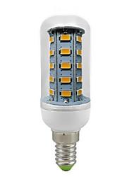 7W E14 Ampoules Maïs LED T 36 SMD 5730 600 lm Blanc Chaud Décorative AC 100-240 V