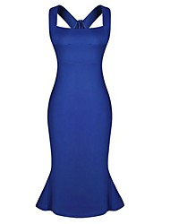 Women's Sexy Slim Sleeveless Hip Pack Ball Dress