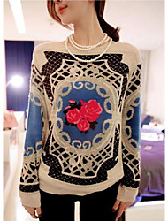 Women's T-shirt Long Sleeve Shirt Loose Knit Pullover