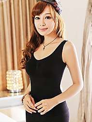 Spring Thin Women Breast Care Postpartum Stomach Wide Body Shaping Underwear Seamless Slimming Vest Black NY001