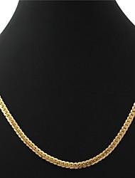 dos homens U7 18k banhado a ouro colares Figaro pedaços 5 milímetros 55 centímetros com selo