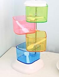 caixa de plástico tempero eotatable, 13x13x26cm