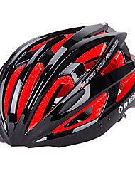 inbike unissex 21 aberturas pc preto e vermelho + eps integralmente moldado capacete de ciclismo (54-62cm)