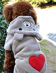 Dog Hoodie Brown / Gray Winter Hearts Cosplay