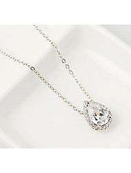 Brass Vermeil Plated With Cubic Zirconia Tears Of Love Pendants Necklaces