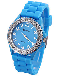 Women's Crystal Case Silicone Band Quartz Analog Wrist Watch (Assorted Colors) Cool Watches Unique Watches