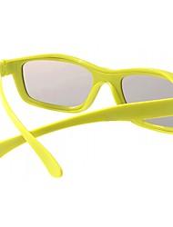 Polarized Light Split-screen 3D Glasses for TV (Yellow)
