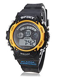 Reloj Pulsera Digital Deportivo de Luz EL - Negro