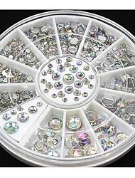 4 tamanho 300pcs prego dicas de arte de cristal brilho strass decoração da roda
