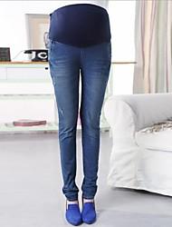 Maternity's Fashion Slim  Abdominal Jeans Pregnant Pant