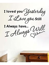 JiuBai™ Love You Quote Wall Sticker Wall Decal