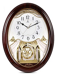 "POWER™ 18.8""H  Elegant European Retro Style Pendulum Music Super Mute Wall Clock"