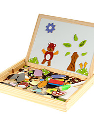 Animal Magnetic Puzzle Wooden Education Toys