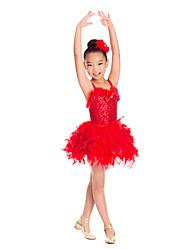 Vestidos(Rojo / Blanco,Espándex / Lentejuela / Tul,Ballet / Sala de Baile / Desempeño) -Ballet / Desempeño / Sala de Baile- paraNiños