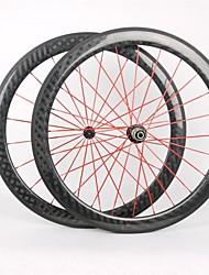 KAYOTE 700C Depth 60mm Tubular Width 23mm Carbon Wheelset for  Road Bike