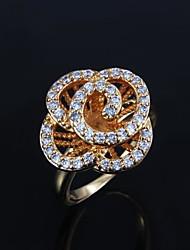 placcato oro elegante con anello di uomini grandi perle di (più colori)