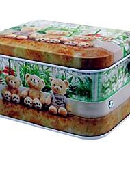 Bear Pattern Metal Storage Music Box Toys