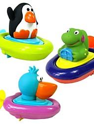 animais padrão de barco brinquedos de água remo bebê bathtime (cor aleatória)