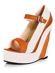 BC Casual Cloth Women's Wedge Heel Sandal