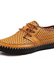 Zapatos de Hombre - Sneakers a la Moda - Casual - Semicuero - Amarillo / Negro / Gris