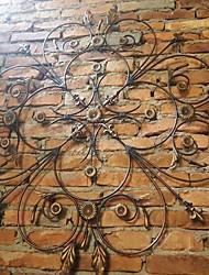de metal decoração arte da parede parede, ferro oco parede flor decoração