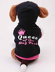 algodón lindo ropa casual con capucha para mascotas para perros (tamaño negro)