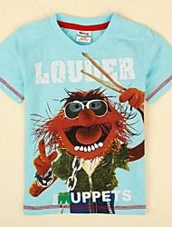 Mode T-Shirt Kurzarm Karikaturdruck beiläufiges T-Shirt Sommer-T-Shirt Kinder-Streudruck
