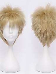 Haikyuu!Tsukishima Kei Firefly Flax Gold  Cosplay Wig