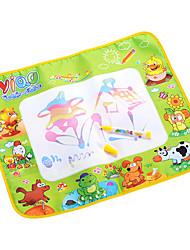 48 * 58 * 2cm de los niños tablero de dibujo del agua del aquadoodle pluma mágica juguetes de la novedad con pinturas de animales (paquete de la caja)