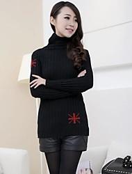 Women's Slim Sweater m Word Pattern Bottoming Sweater