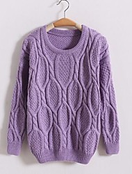 Women's Loose Round Collar Pullover Knitwear