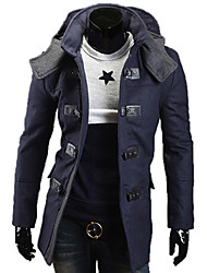 REVERIE UOMO Estilo coreano Silm vestir tops de Tweed Hoodie Homem