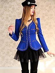 Pink Doll® Women's Splicing Gold Chain Elegant OL Sliming Blazer